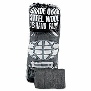 Industrial-Quality Steel Wool Hand Pads, #0 Medium Fine (GMA117003)
