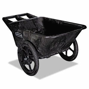 Rubbermaid 5642 Big Wheel Agriculture Cart, Black (RCP 5642 BLA)