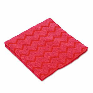 Rubbermaid Q620 Hygen Microfiber Cleaning Cloths, Red, 12 Cloths (RCP Q620 RED)