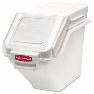 Rubbermaid 9G57 ProSave Shelf Ingredient Storage Bin, White (RCP 9G57 WHI)
