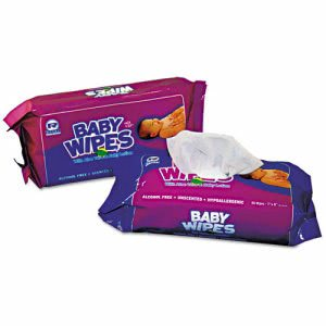 Royal Paper Baby Wipes, Unscented, 80 Wipes, 12 Packs (RPPRPBWUR80)