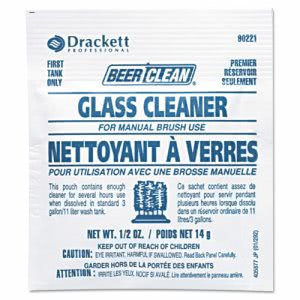 Diversey Beer Clean Glass Cleaner, Unscented, Powder, 1/2oz Packet (DVO90221)