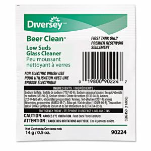 Beer Clean Low Suds Glassware Cleaner, 1/2-oz. Pouch (DVO 90224)