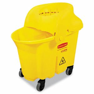 Rubbermaid 7590-88 WaveBrake Mop Bucket with Strainer (RCP 7590-88 YEL)