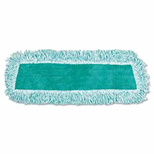 "Rubbermaid Q408 Microfiber 18"" Dust Mop with Fringe, Green (RCP Q408 GRE)"