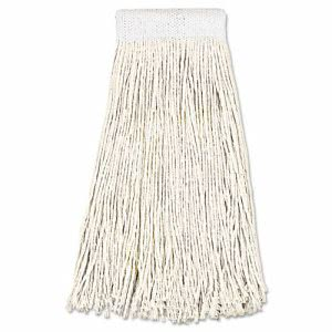 Boardwalk Premium Saddleback Cotton Mop Heads, 24-oz, 12 Mops (BWK324C)