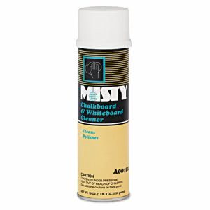 Misty Chalkboard and Whiteboard Cleaner, 12 - 19 oz. Aerosol Cans (AMR A101-20)