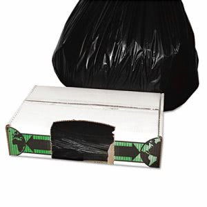 33 Gallon Black Garbage Bags, 33x39, 1.5mil, 150 Bags (ESS ECO40XH)