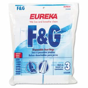 Disposable Eureka Vacuum Bags, 6 - 3 Bag Packs (EUR 52320-6)
