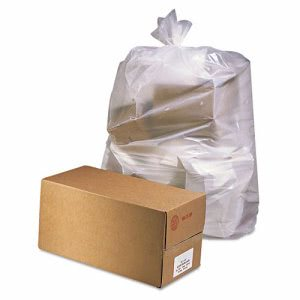 60 Gallon Clear Garbage Bags, 38x65, 2.5mil, 50 Bags (JAGD3865)
