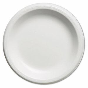"Elite 8-7/8"" Laminated Foam Plates, White, 500 Plates (GNP LAM09)"