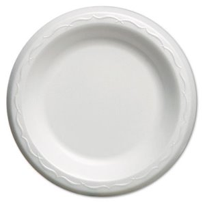 "Elite 6"" Laminated Foam Plates, White, 1,000 Plates (GNPLAM06)"