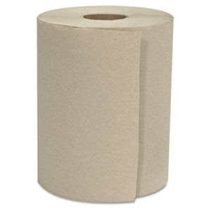 "Gen Hardwound Roll Towels, 1-Ply, Natural, 8"" x 600 ft, 12 Rolls (GENHWTKRFT)"