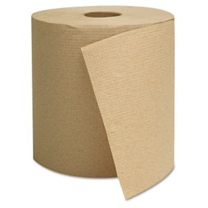 GEN 800 ft Brown Hard Roll Paper Towels, 6 Rolls/Carton (GEN1825)