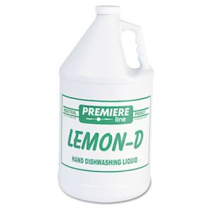 Kess Lemon-D Dishwashing Liquid, Lemon, 1gal, Bottle, 4/Carton (KESLEMOND)