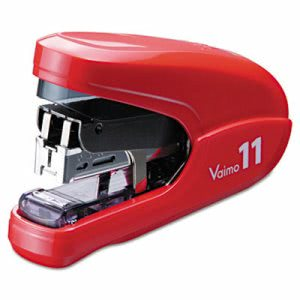 Max Flat Clinch Light Effort Stapler, 35-Sheet Capacity, Red (MXBHD11FLKRD)