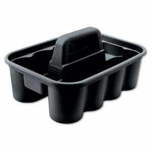 Rubbermaid 315488 Deluxe Carry Caddy, 8-Comp, Black (RCP315488BLA)