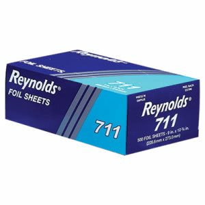 Reynolds Pop-Up Interfolded Aluminum Foil Sheets, 9 x 10 3/4, 500/Box (RFP711)