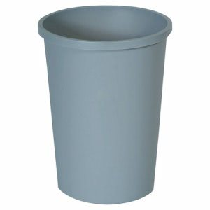 Rubbermaid 2947 Untouchable 11 Gallon Round Trash Can, Gray (RCP2947GRA)