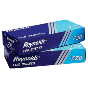 "Interfolded Foil Sheets, 12"" x 10-3/4"" Size, 2400 Sheets (RFP720)"