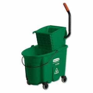 Rubbemaid 7588-88 Wavebrake 35-qt. Bucket & Side Press Wringer (RCP 7588-88 GRE)