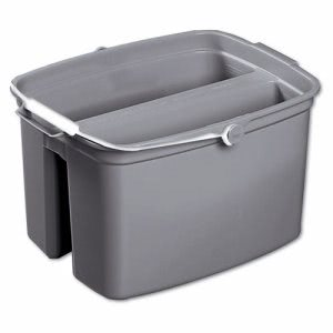 Rubbermaid 2617 Double 17 Quart Pail, Gray, 6 Pails (RCP 2617 GRA)