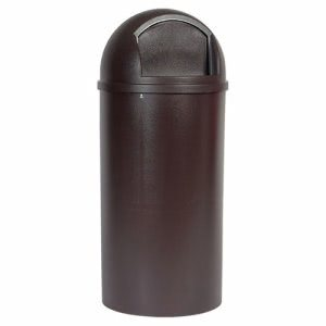 Rubbermaid 817088 Marshal 25 Gallon Dometop Trash Can, Brown (RCP817088BRO)