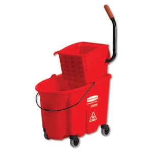 Rubbermaid 758888 WaveBrake 35 Quart Bucket/Side Press Wringer (RCP758888RD)