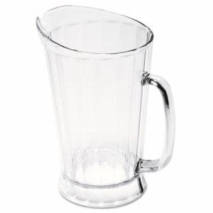 Rubbermaid Commercial Bouncer II Plastic Pitcher, 60 oz, Clear (RCP333400CLR)