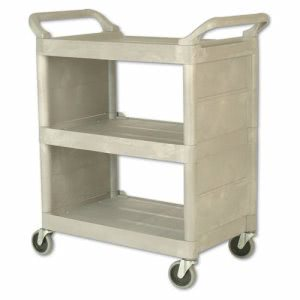 Rubbermaid 3355-88 Utility Cart with Enclosed End Panels (RCP 3355-88 PLA)