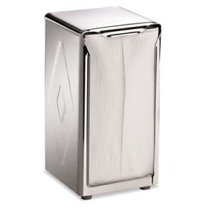 San Jamar Tabletop Napkin Dispenser, Tall Fold, Capacity: 150, Chrome (SJMH900X)