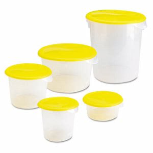 Rubbermaid Round 2 Quart Storage Containers, Clear (RCP572024CLE)