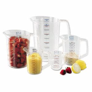 Bouncer® Measuring Cups, 1-Cup Capacity, 12 Cups (RCP 3210 CLE)