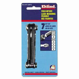 Eklind M17 Metric Hex Key Set, 1.5-6mm (EKL21171)