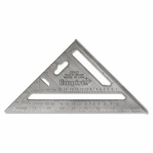 "Empire Heavy-Duty Rafter Square, 7"" Edge, 1/8"" Graduations, Aluminum (EML2990)"