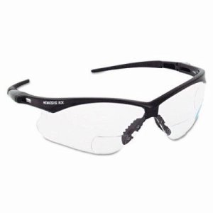 Jackson Safety V60 Nemesis Rx Reader Safety Glasses, Black/Clear Lens (KCC28618)