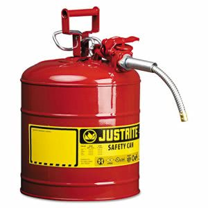 "Justrite AccuFlow Safety Can, Type II, 5gal, Red, 5/8"" Hose (JUS7250120)"