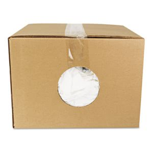 Domestic Bleached Knits Rags, 25-lb. Box (HOS45525)