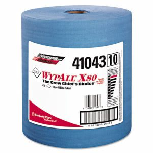 Wypall X80 Jumbo Roll Utility Wipers, Blue, 475 Wipes (KCC 41043)