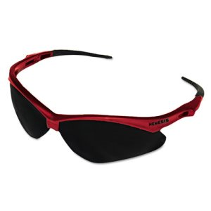 Jackson Safety V30 Nemesis Safety Glasses, Red Frame/Smoke Lens (KCC22611)