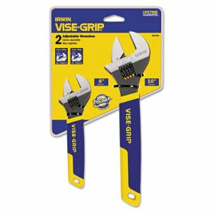 "Irwin Two-Piece Adjustable Wrench Set, 6"" and 10"" Long (IRW2078700)"