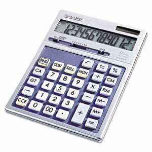 Sharp Portable Executive Desktop/Handheld Calculator, 12-Digit LCD (SHREL2139HB)