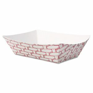 Boardwalk 1/2-lb. Paper Food Trays, 1,000 Trays (BWK 30LAG050)