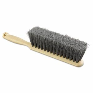 "Boardwalk Flagged Polypropylene Bristle Counter Brush, 8"", Tan Handle (BWK5408)"