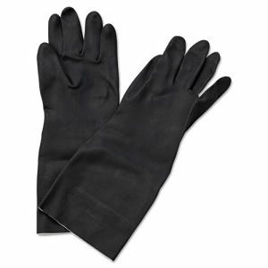 Boardwalk Neoprene Flock-Lined Gloves, Long-Sleeved, Lg, Blk, 12 Pair (BWK543L)