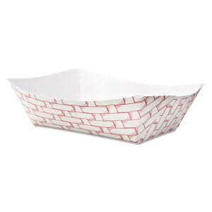 Boardwalk 3-lb. Paper Food Trays, 500 Trays (BWK 30LAG300)
