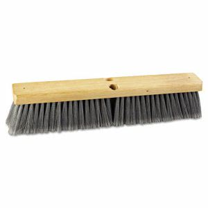 "Boardwalk 18"" Gray Flagged Polypropylene Floor Brush, Each (BWK 20418)"