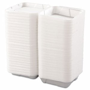 Boardwalk Large 1 Compartment Foam Hinged Containers, 200 Containers (BWK 0100)