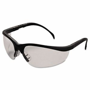 Crews Klondike Safety Glasses, Matte Black Frame, Clear Lens (CRWKD110BX)