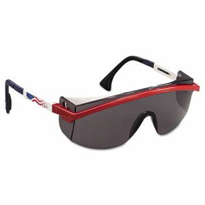 Uvex Astrospec 3000 Safety Spectacles, Patriot Red-White-Blue (UVXS1179)